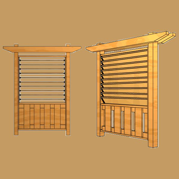 Building a Board on Board Fence with Louvered Top - 4 ft. Section