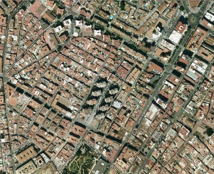 Plano ortogonal de Fuengirola (vista de pájaro)