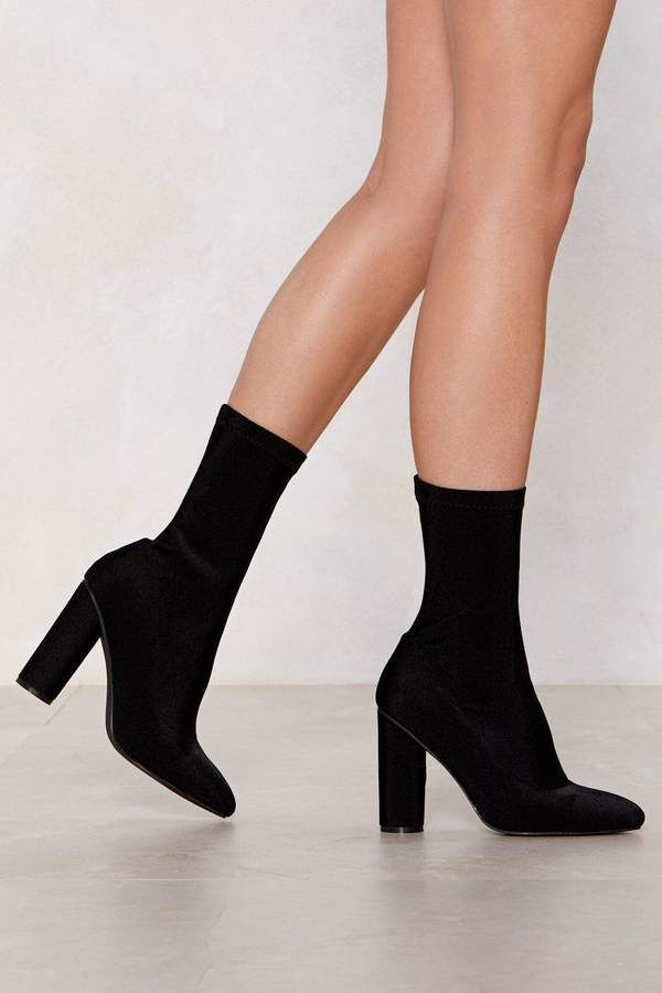 Sit Tight Sock Boot | Shop Clothes at Nasty Gal
