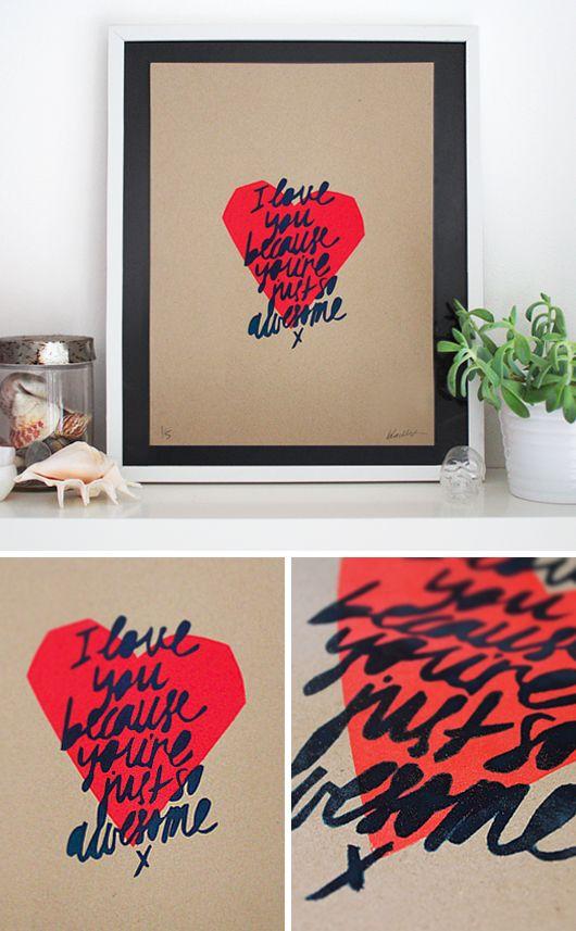 You're Just So Awesome  $189.95, via black list studio prints #blackliststudioprints
