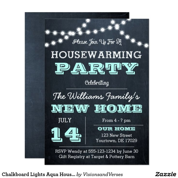 62 best housewarming invitations images on pinterest housewarming chalkboard lights aqua housewarming invitations stopboris Image collections