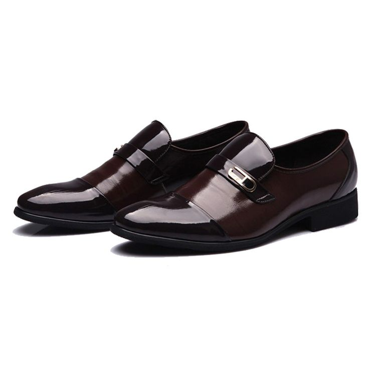 Los hombres Masculinos Del Otoño Del Resorte de Charol Zapato de la Oficina Moda Slip-On de Los Padrinos de boda y el Novio de Boda Zapatos Antideslizantes Zapatos Impermeables(China (Mainland))