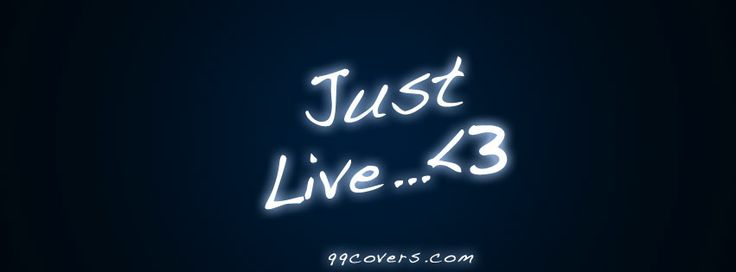 Live the life you want and express your true self with beautiful Facebook cover photos from 99Covers.com