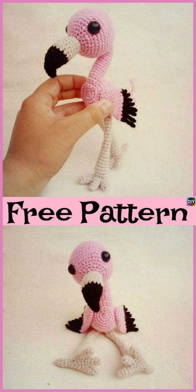Flo the Flamingo amigurumi pattern - Amigurumipatterns.net | 1300x650