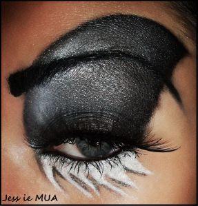 shark eye makeup