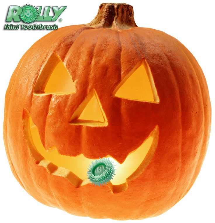 Get the pumpkin seeds out of your teeth with the Rolly Brush. It stays in your mouth and out of sight so you can use it anywhere!
