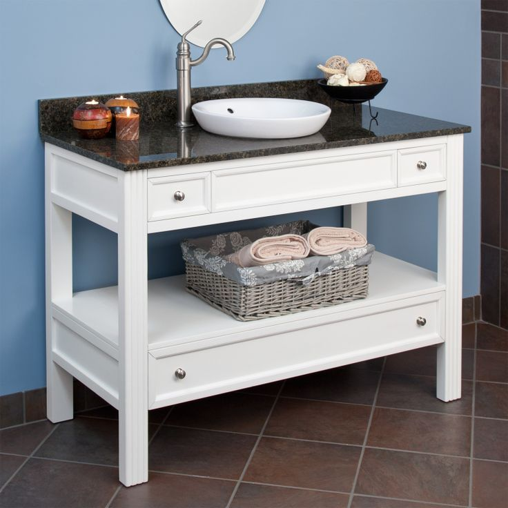 Great 48 Milforde Collection Console Vanity Cabinet With Semi Recessed Basin  $671.95   $1,008.95 Signature Hardware
