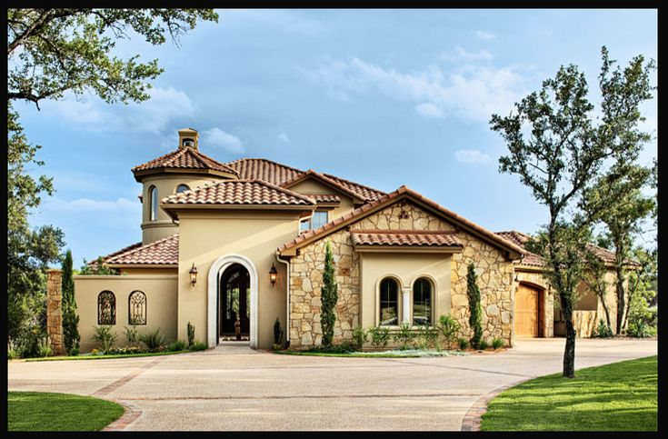 Mediterranean tuscan style home house mediterranean for Custom mediterranean homes