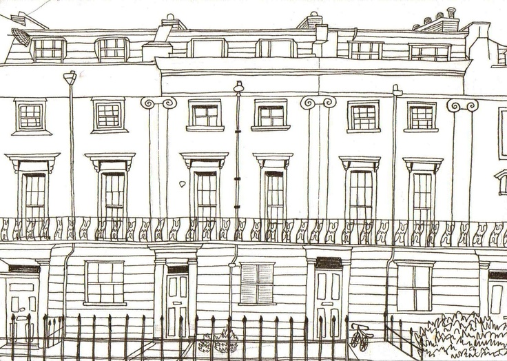 terrace houses my drawings pinterest terrace and house On terrace drawing