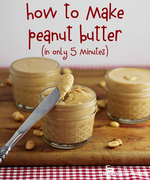 Make your own peanut butter. If only I had a food processor! It's next on my list of appliances to buy...