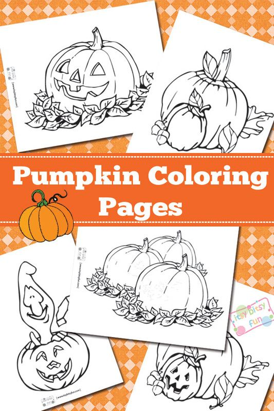 Carved And Regular Pumpkin Coloring Pages Free Printable