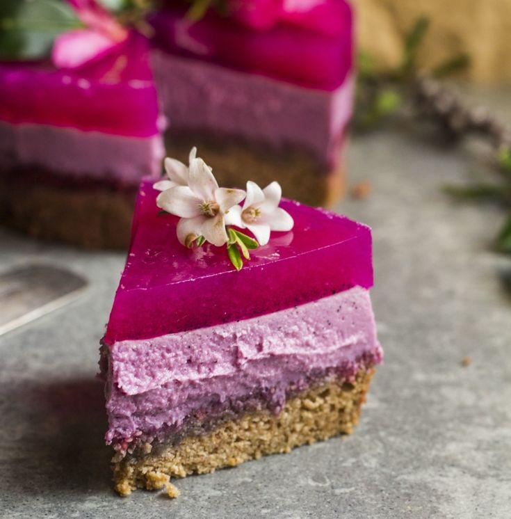 pitaya layer cake vegan                                                                                                                                                                                 More