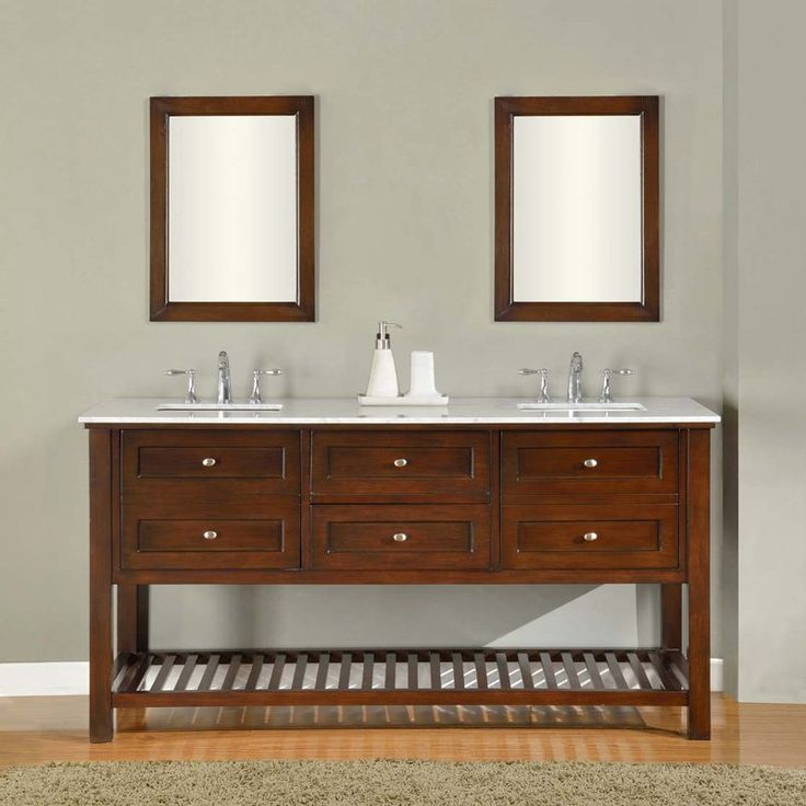 Direct Vanity Sink Mission Spa Collection 70 In. Double