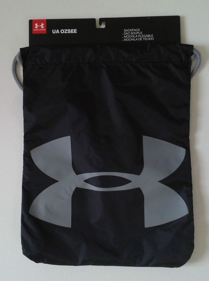 Under Armour New Brand Gym Sack Bagpack Swoosh Drawstring School Sports Unisex  #UnderArmour #Backpack