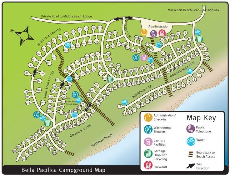 site map for Bella Pacifica