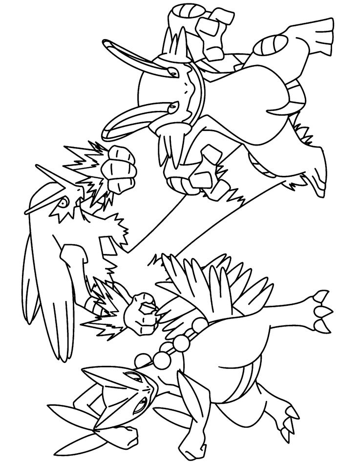 pokemon advanced coloring pages | color pokemon groups