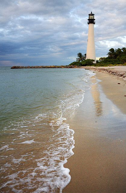 Cape Florida, Key Biscayne, Florida this used to be Bill Baggs state park before a hurricane destroyed it we went there with the dad umps and Mark