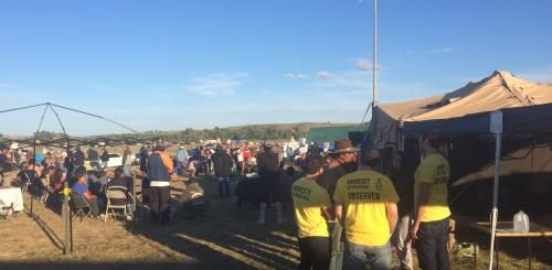 As tensions escalate at the site of a disputed pipeline close to the Standing Rock Sioux Reservation in North Dakota, Amnesty International USA (AIUSA) has sent a delegation of human rights observers