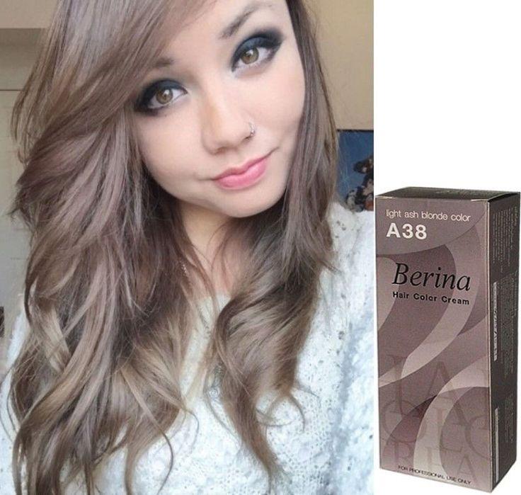 2X Berina Hair Color Cream Light Ash Blonde Color No38