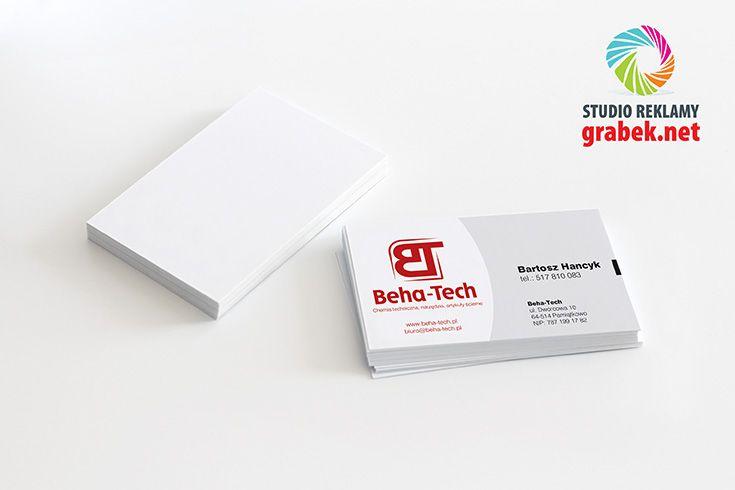 Wizytówki dla właścicieli i pracowników firmy Beha-Tech