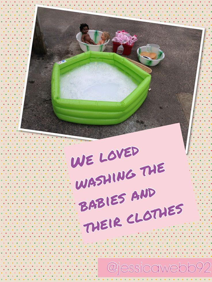Outdoor baby wash. EYFS