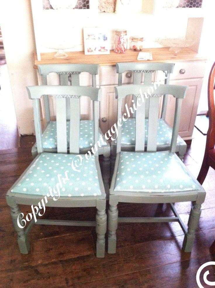 Country style dinning chairs www.facebook.com/VintageChicHomeShabbyChicFurniture