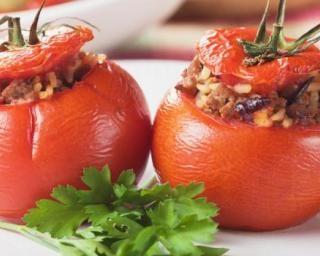 Tomates farcies allégées au boeuf haché