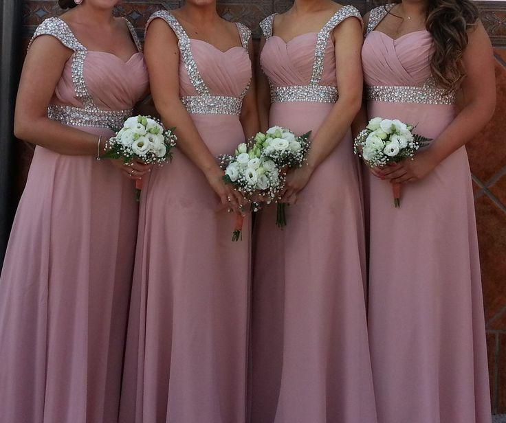 Blush Pink Prom Gown,Modest Prom Dresses,Blush Pink Prom Gown,Simple Prom Dress,Cheap Evening Dresses,Fall Wedding Gowns,Cap Sleeves Bridesmaid Dresses With Beads,2016 Spring Bridesmaid Gown