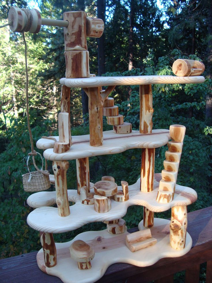Woodland elf gnome doll tree house
