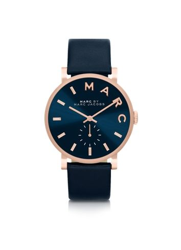 Marc by Marc Jacobs Baker Navy Blue Women's Watch w/Leather Strap