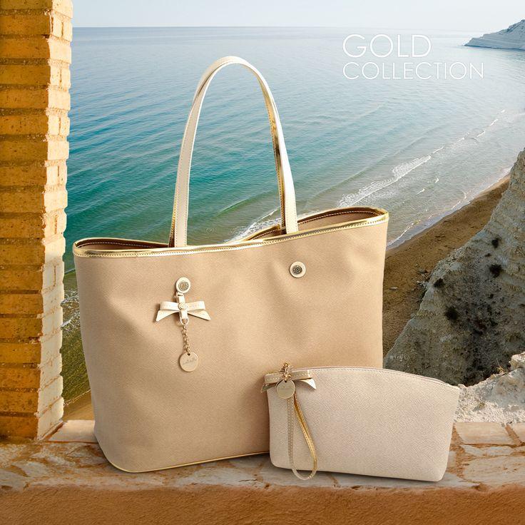 Loristella Gold Collection #loristella #gold #summer #2015 #bags #pochette #madeinitaly #italy #solocosebelle #sun #beach