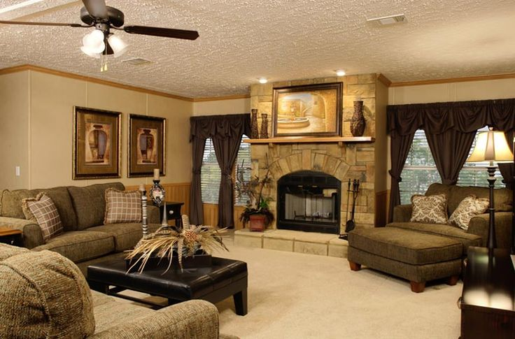 92 best lovely living rooms mobile manufactured homes - Interior pictures of modular homes ...