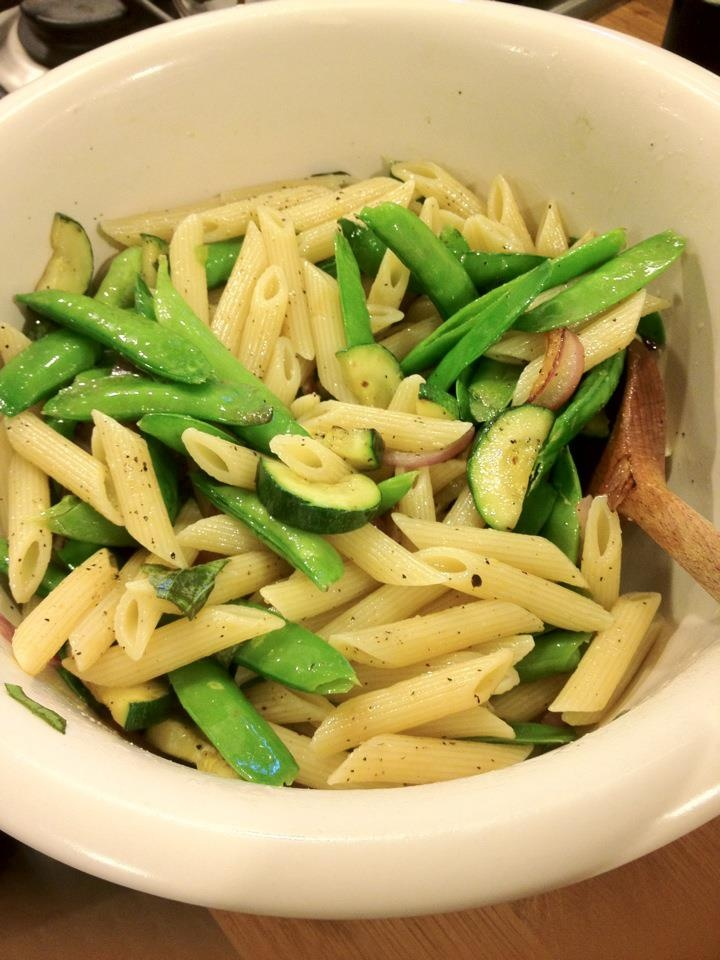 Snap peas, Penne and Zucchini on Pinterest