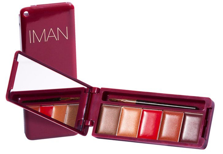 Pin for Later: The Ultimate Holiday Beauty Gift Guide Featuring 150+ Products Iman Cosmetics Deja Vu Lip Palette Iman Cosmetics Deja Vu Lip Palette ($5)