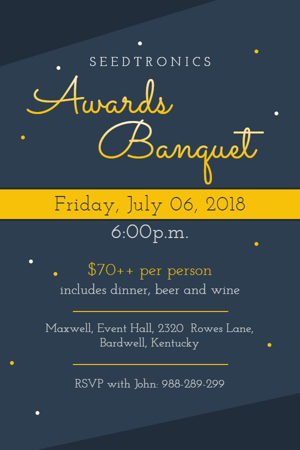 modern awards banquet event invitation poster template banquet