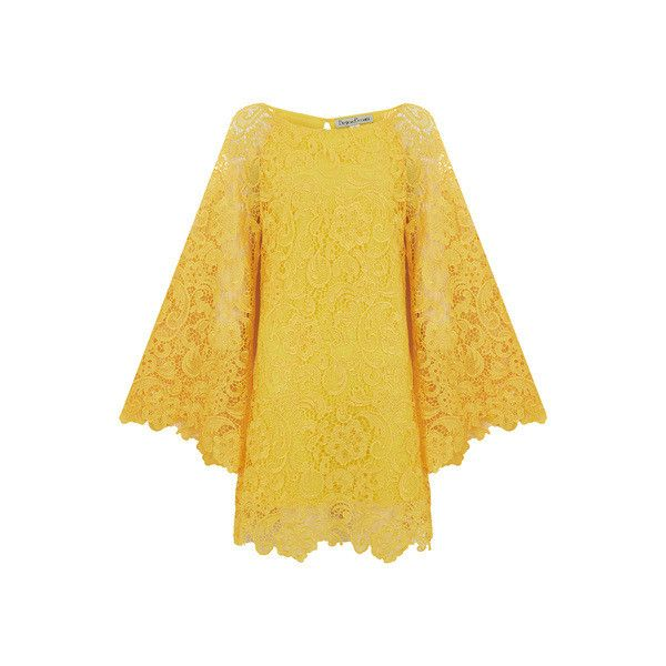 BRIGHT & BEAUTIFUL Angel Retro 1960s Lace Dress in Yellow ❤ liked on Polyvore featuring dresses, bright dresses, lace dress, bright cocktail dresses, lacy dress and lace cocktail dress