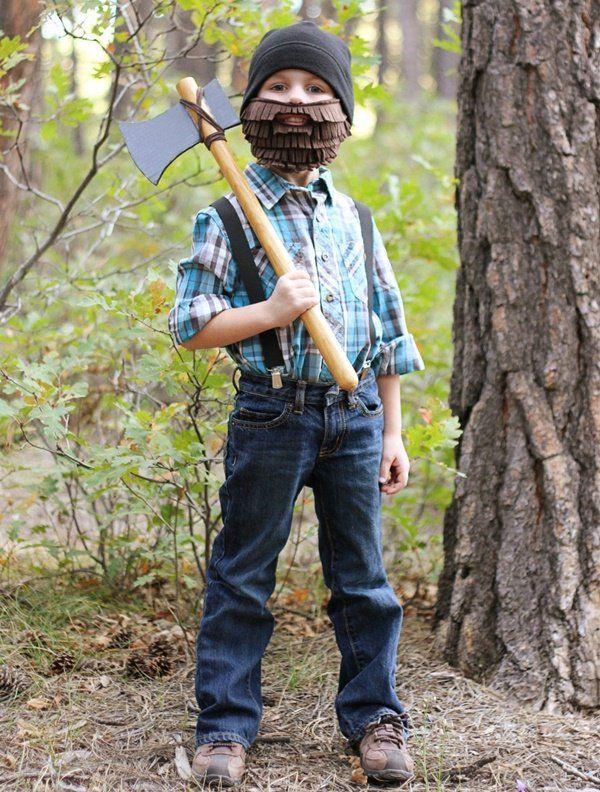 Sencillo disfraz de leñador para Halloween
