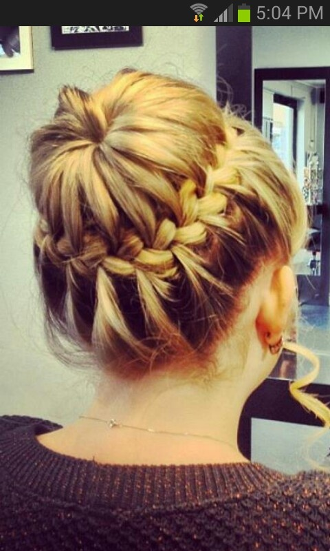 Plait Bun Hairstyles Pinterest