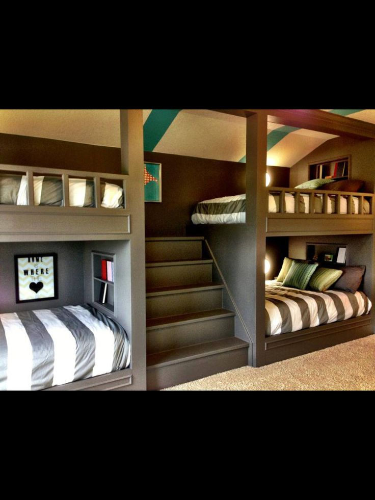 If I were a quadruplet, I would soo want that bed. (Actually, I still want it)