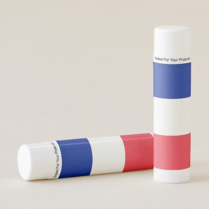 Patriotic Lip Balm flag of France - lip gifts unique lips style cyo personalize