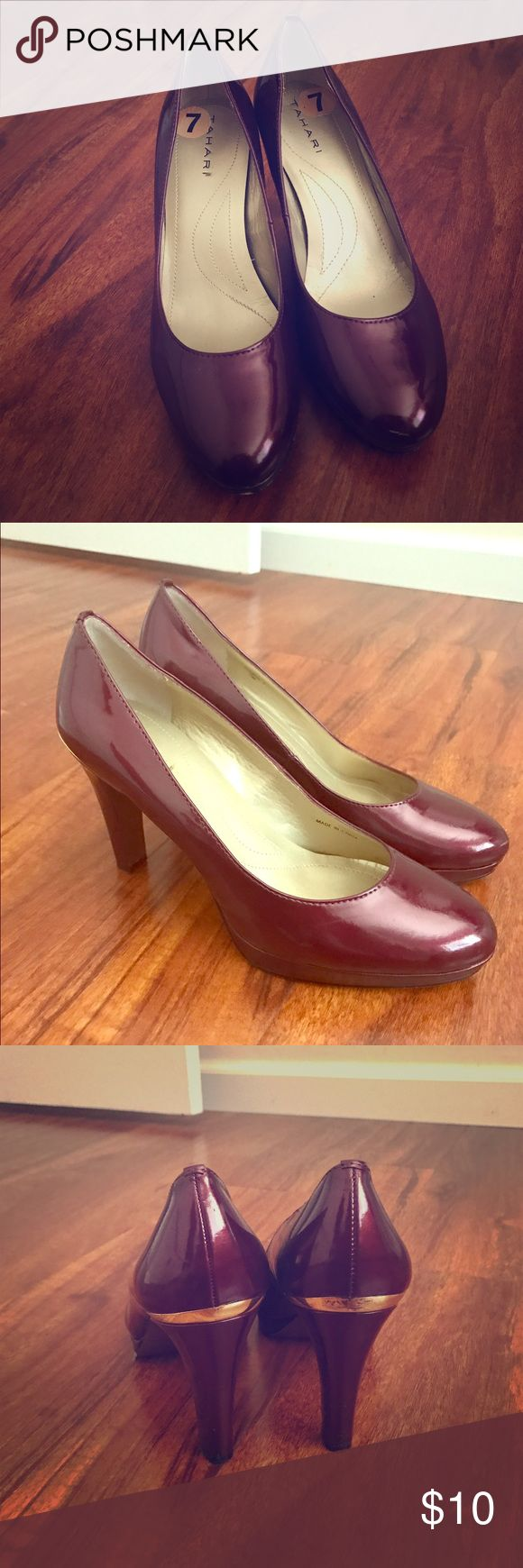 Red pump shoe Like new. Great for office wear or formal events. Tahari Shoes Heels