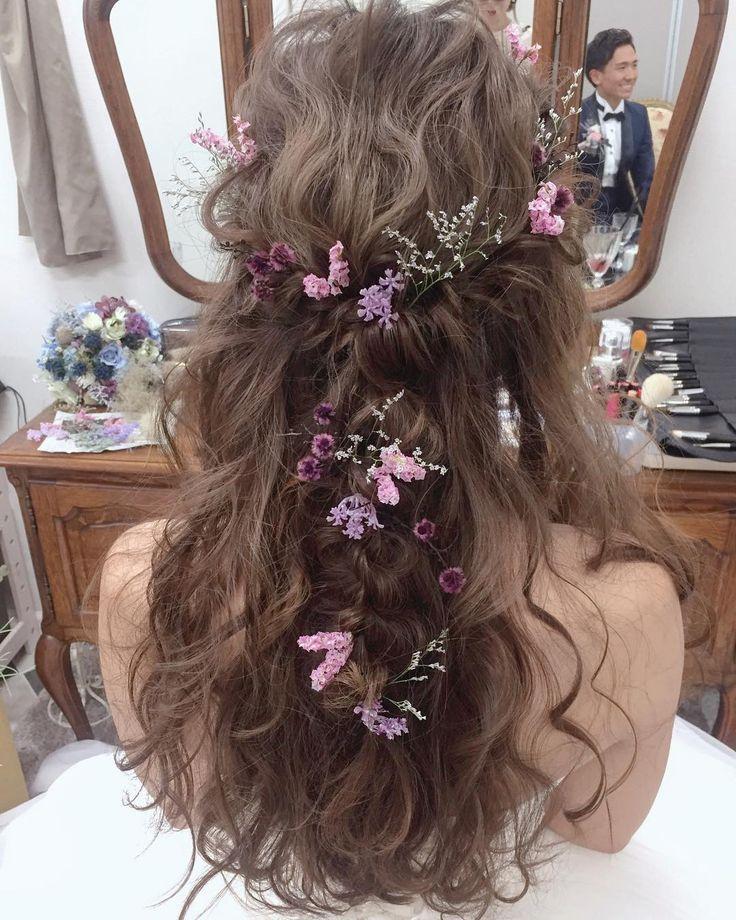 いいね!4,000件、コメント3件 ― マリさん(@brillantmari)のInstagramアカウント: 「* * ダウンhair * * #マリhair #pincopicon #浜松市」 #wedding #weddinghair #bridal #bridalhair #hairstyles #hairmake #hairarrange #Beautiful #violetcolor #flower #floweraccessory #ハーフアップ #ウェディング #ヘアスタイル #ヘアアレンジ #ブライダルヘア #アンティークカラー #紫色 #バイオレット #フラワー #花