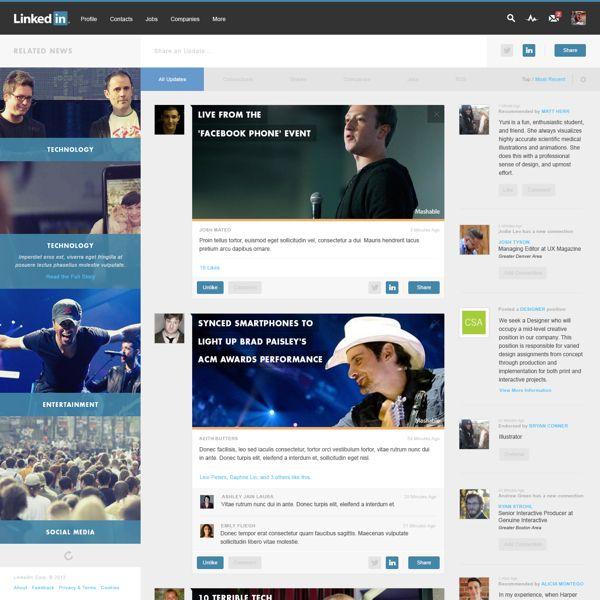LinkedIn Redesign by Josh Mateo, via Behance
