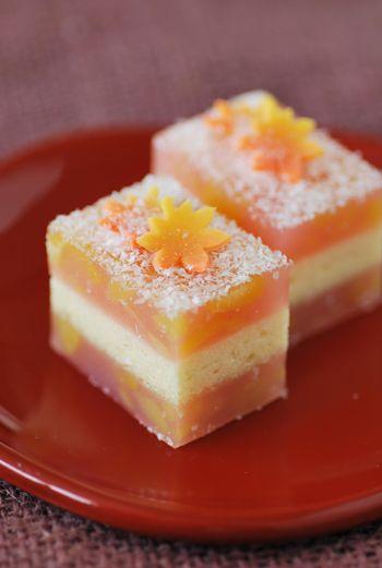 茶席上生菓子「初霜」 はつしも : 本日も和菓子日和です