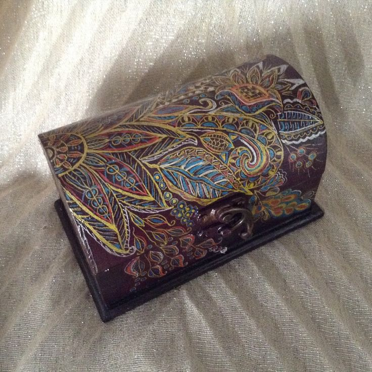 Ethnic batik style Wooden jewelry keepsake box, decorative box, jewelry case, handpainted, gift box. by EthnicDrops on Etsy https://www.etsy.com/listing/400564521/ethnic-batik-style-wooden-jewelry