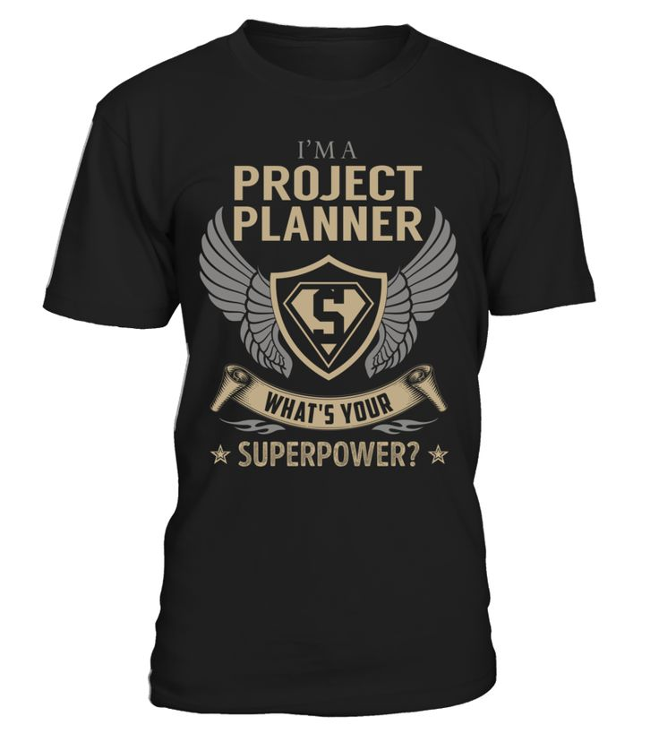 Project Planner Superpower Job Title T-Shirt #ProjectPlanner