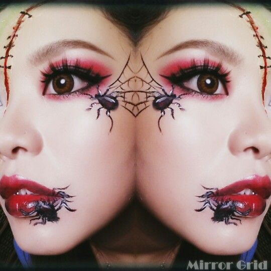 #Halloween #halloweenmakeup #spider #scar #血糊 #蜘蛛 #蜘蛛の巣 #赤シャドウ #グロい #ゾンビメイク #ゾンビ #赤リップ #redlip #eyeshadow #囲みシャドウ #はねあげアイライン#囲みアイライン #仮装 #ハロウィン #ハロウィンメイク #self #selfmakeup #セルフ #メイク#hitomiyanagida