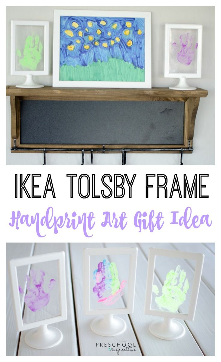 Keepsake Handprint Art Gift Idea With Ikea Tolsby Frame With Images Ikea Tolsby Frame Handprint Art Handprint Gifts