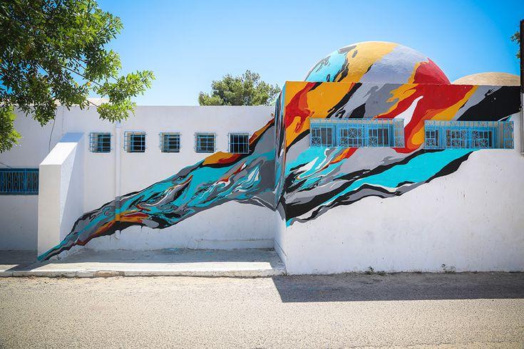 Paulo Arraiano (Portugal) #streetart #erriadh #djerba #tunisia #acrylic