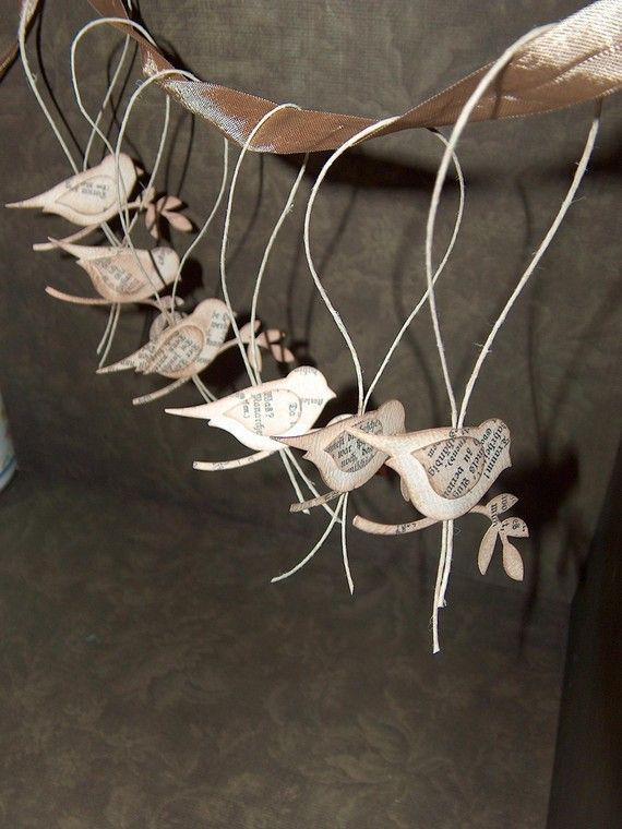 paper bird  ornaments